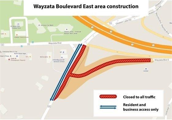 Wayzata Boulevard Closure Area
