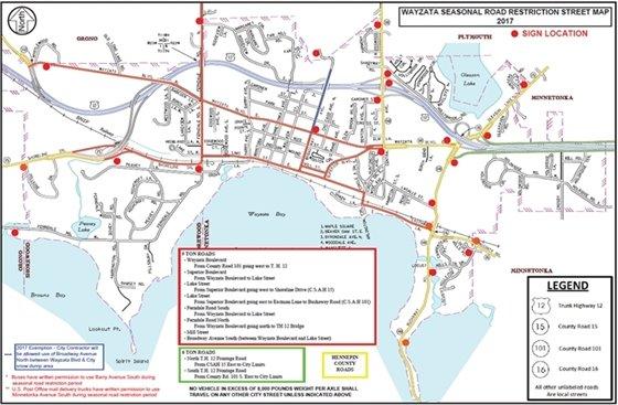 2017 Seasonal Road Restrictions