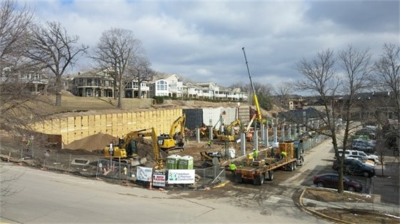 Installation of the waterproofing, rebar, and formwork along the north side of the site (3-1-17)3-17).