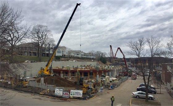 Mill Street Parking Structure progress (4-13-17)