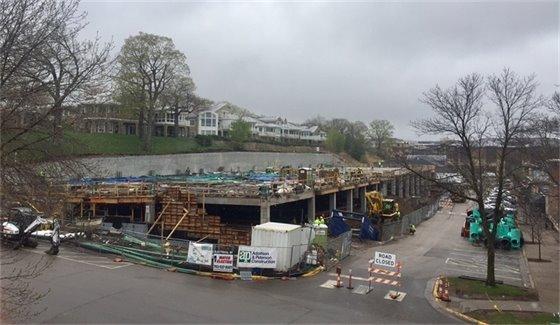 Mill Street Parking Structure Progress