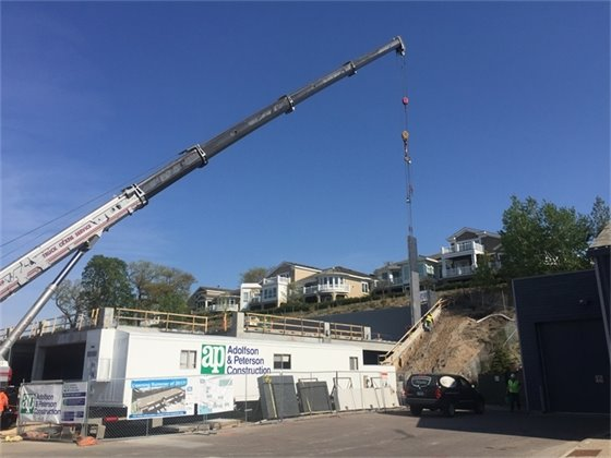 Mill Street Parking Structure progress (5-8-17)