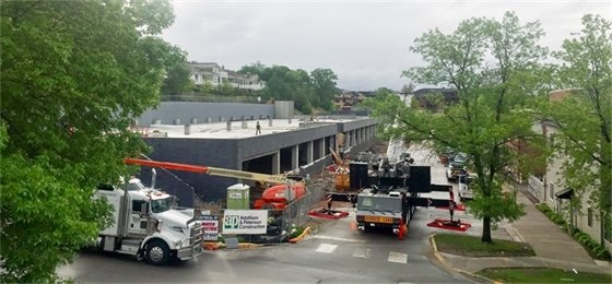 Mill Street Parking Structure – Precast fascia panel completion (5-18-17)
