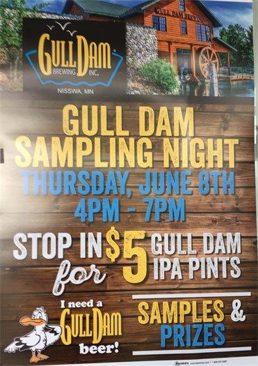 gull dam sampling night