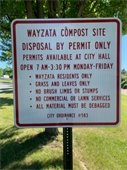 compost disposal sign
