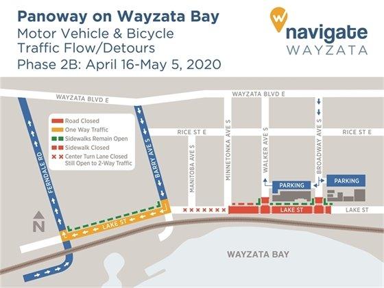 Construction detours April 16-May 5, 2020