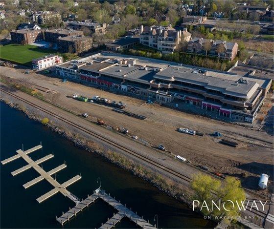 Aerial photo of construction (courtesy of Steve Bernstein)