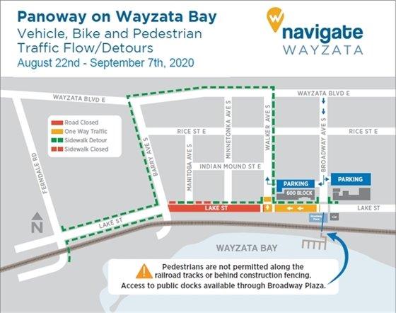 Detour map for August 22-September 7