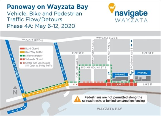 Construction detours May 6-12, 2020