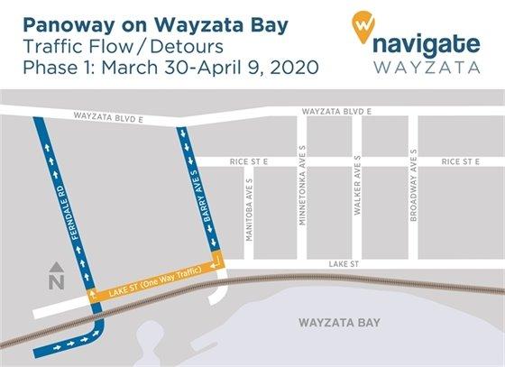 Construction detours March 30-April 9, 2020