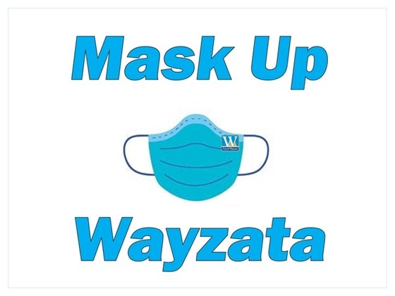 mask up wayzata mask and logo
