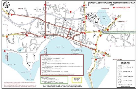 2020 Seasonal Road Restriction Map