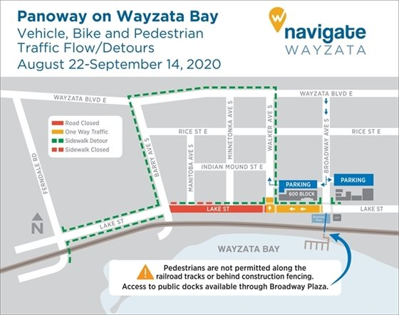 Detour map for August 22-September 14