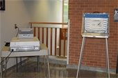 Automark and voting booth at wayzata city hall
