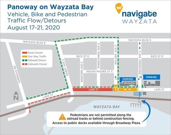 Detour map for August 17-21