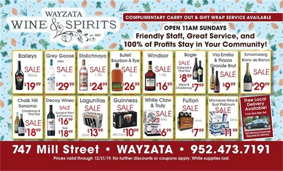 December Wine and Spirits Ad