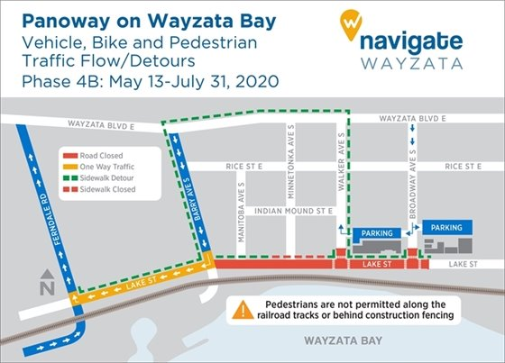 Construction detours May 13-July 31, 2020