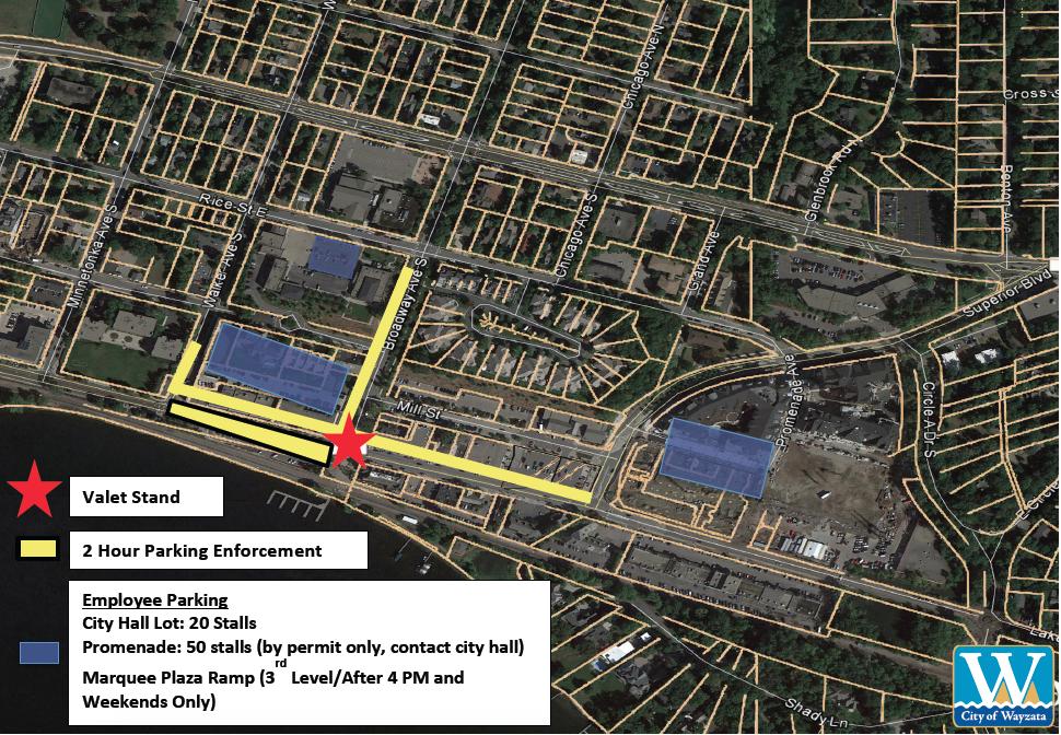 Summer Pilot Project parking map