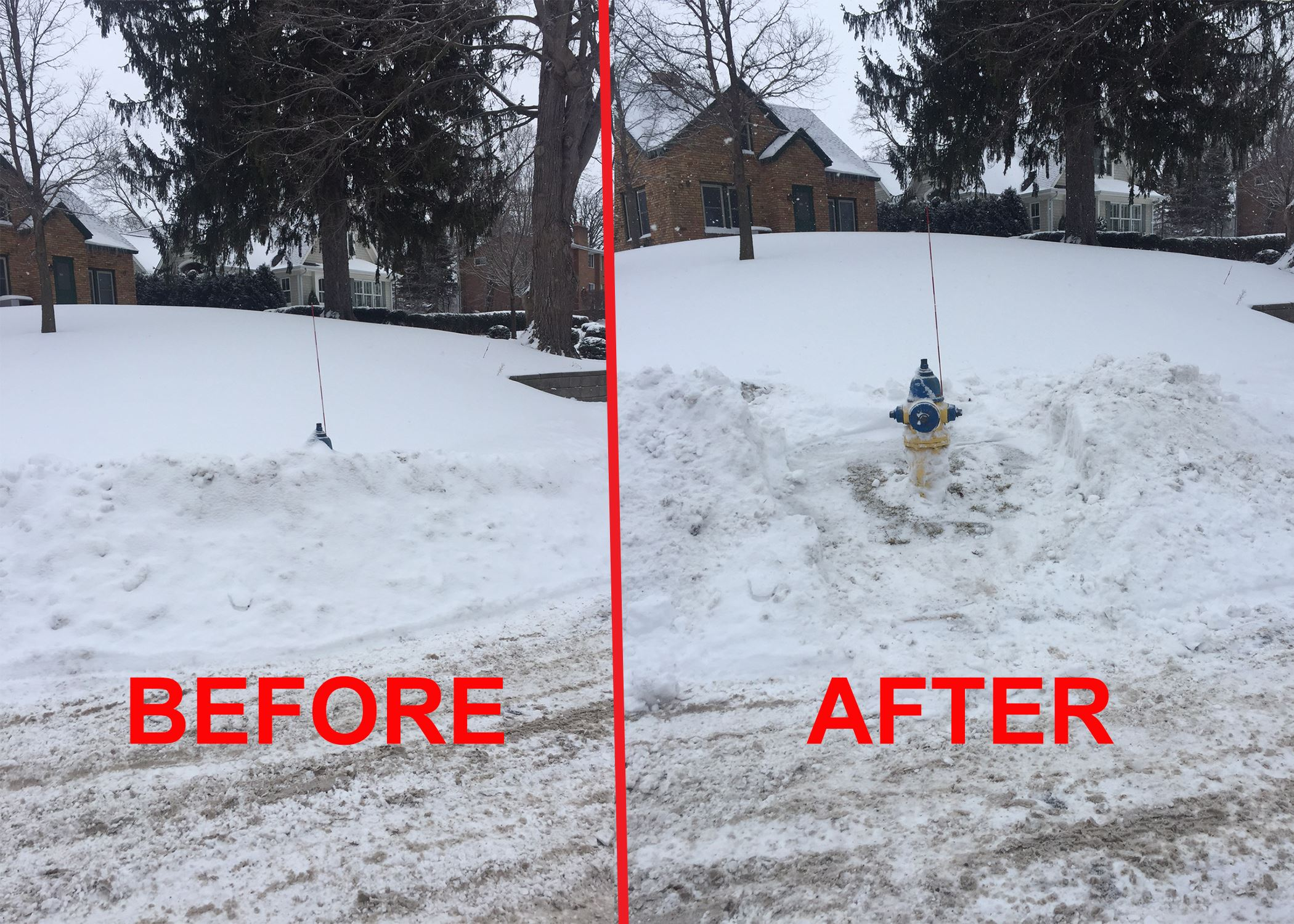 BEFORE AFTER ADOPT A HYDRANT