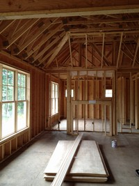 The inside of a home under construction