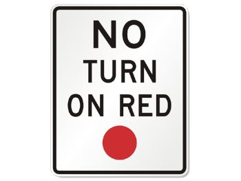 No right on red