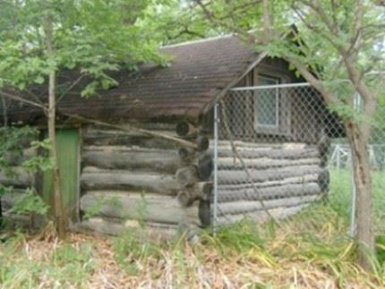 Log Cabin on its previous Bushaway Road site