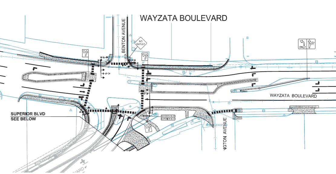 Wayzata Superior Blvd Intersection