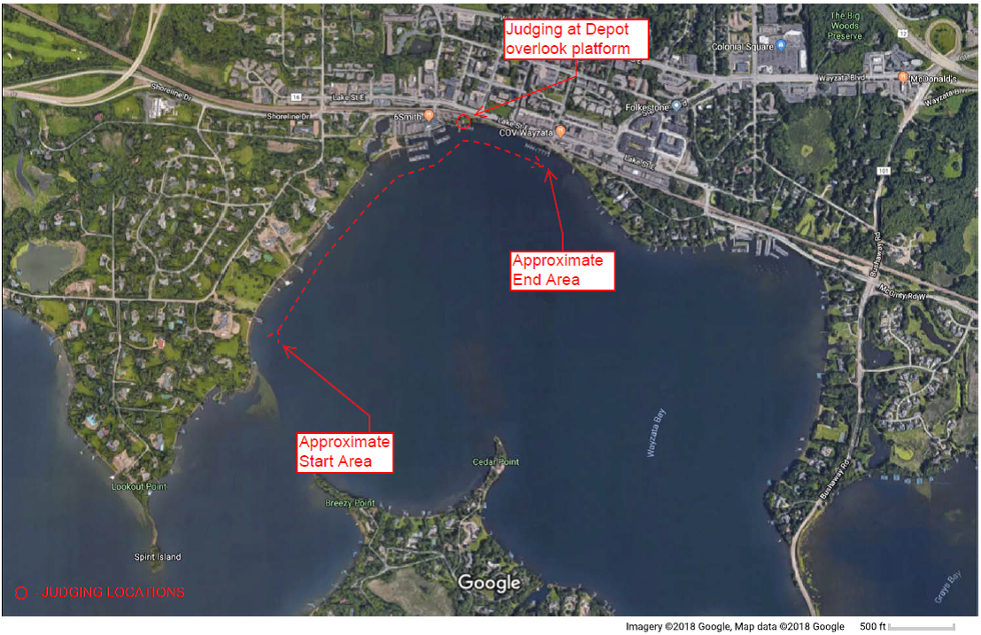 boat parade route map