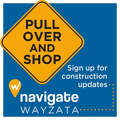 Pull Over and Shop  - Sign up for construction updates