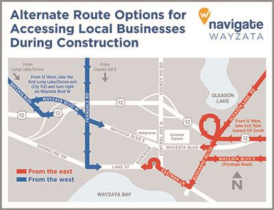 Navigate Wayzata Detour Map - Accessing Businesses