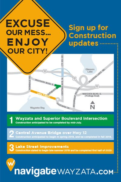 Navigate Wayzata Excuse Our Mess Poster